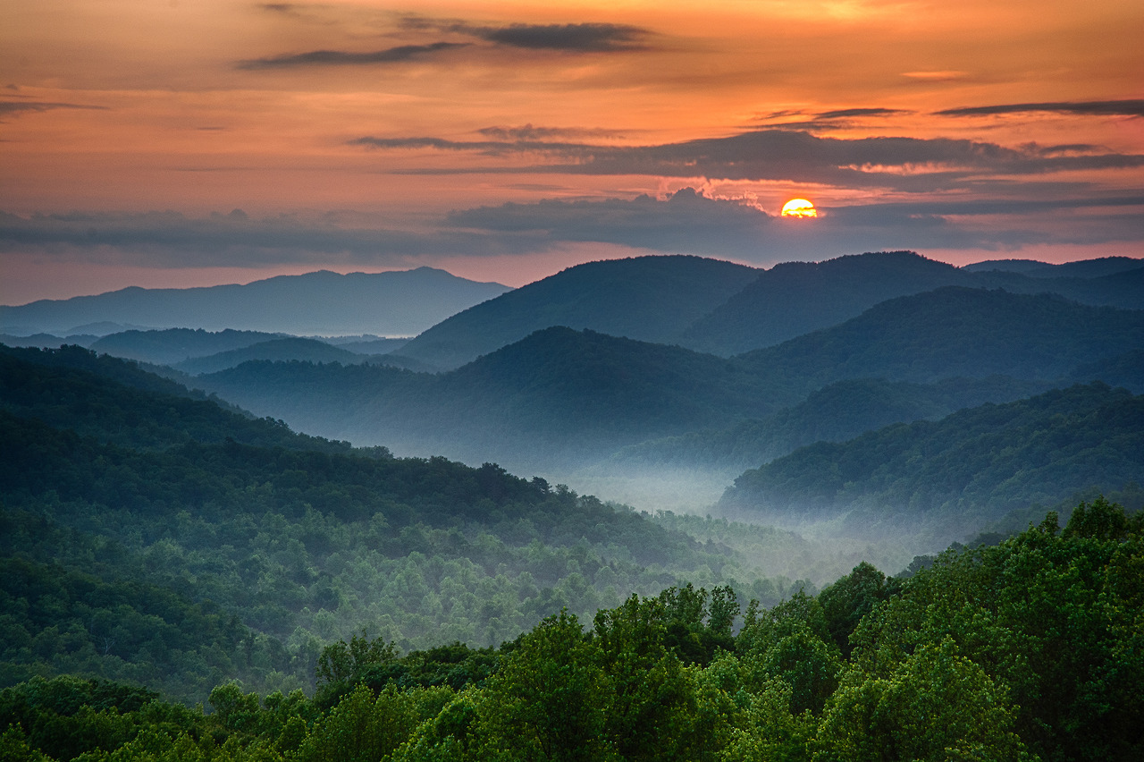 Great Smokey Mountains sunset