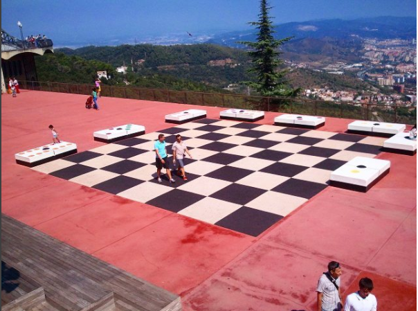 Large chess board at Tibidago