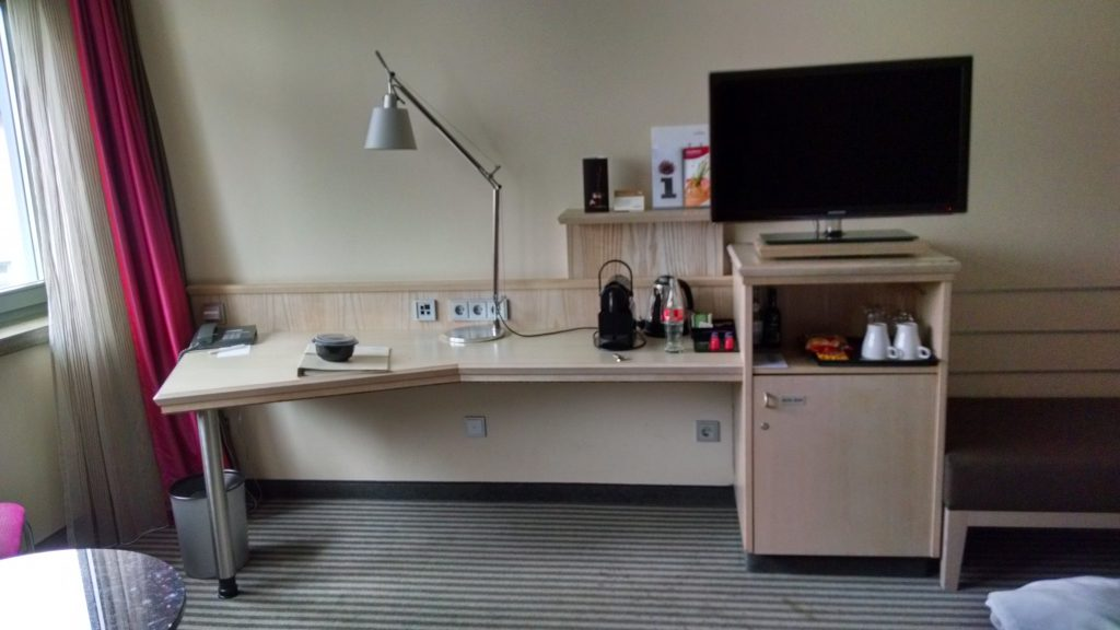 Desk and amenities