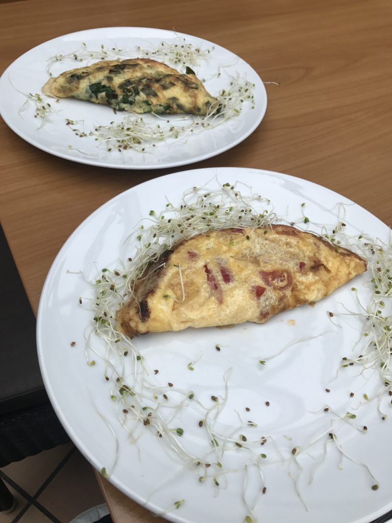 Omelets with cheese