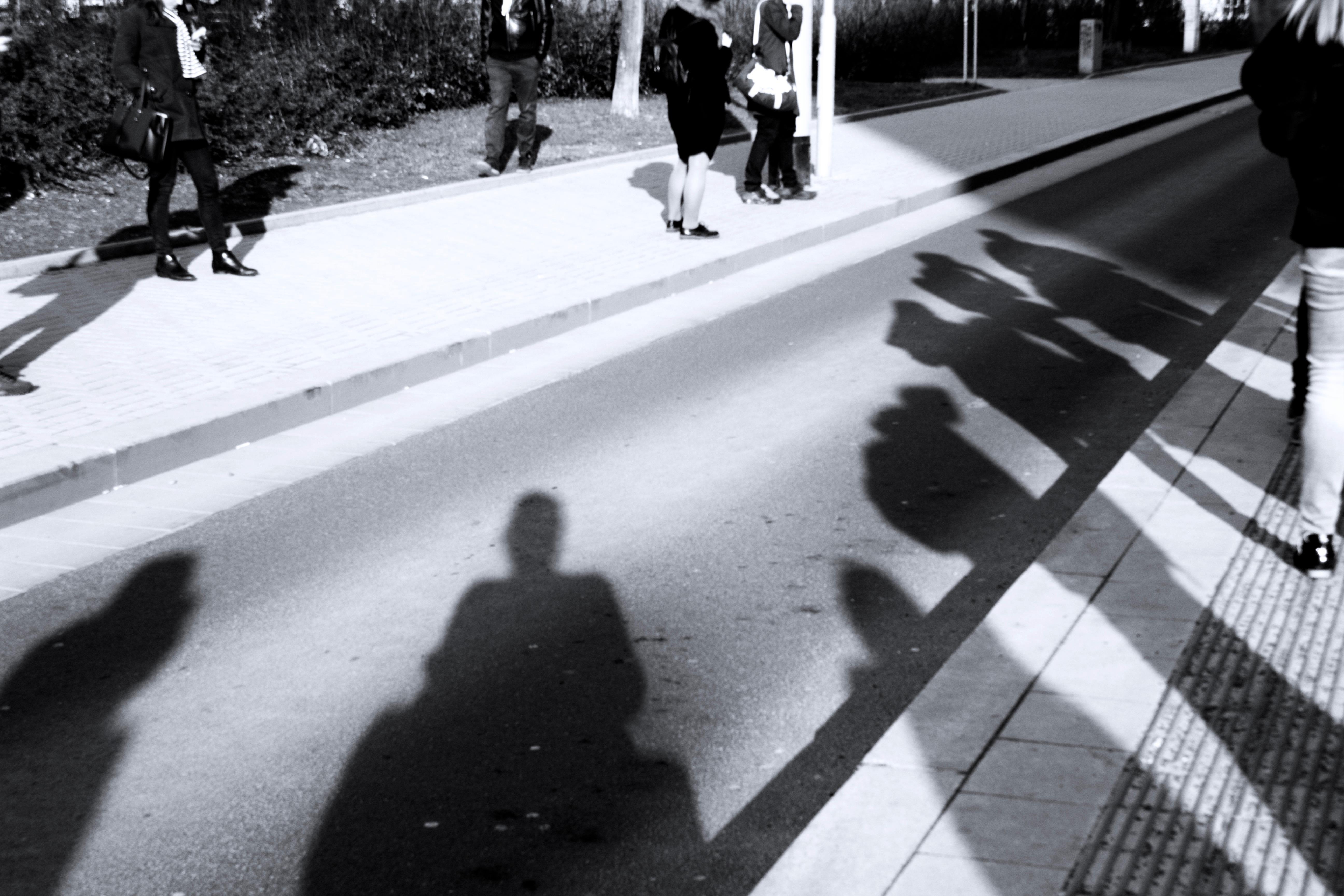 Prague, waiting at the tram stop