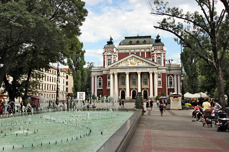 Bulgaria-Sofia-Ivan-Vasov-Garden-and-National-Theatre-L