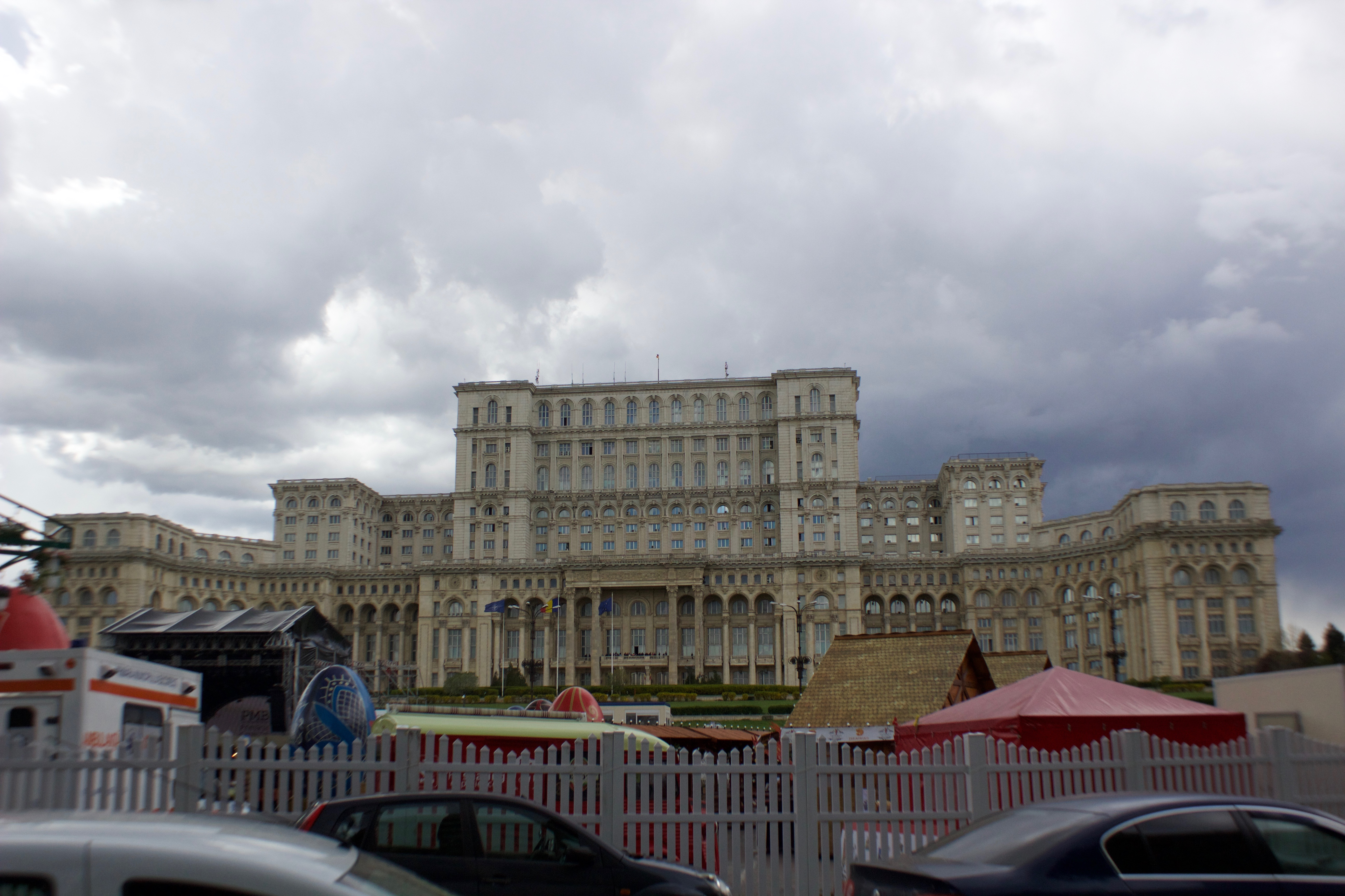 The huge palace of Bucharest