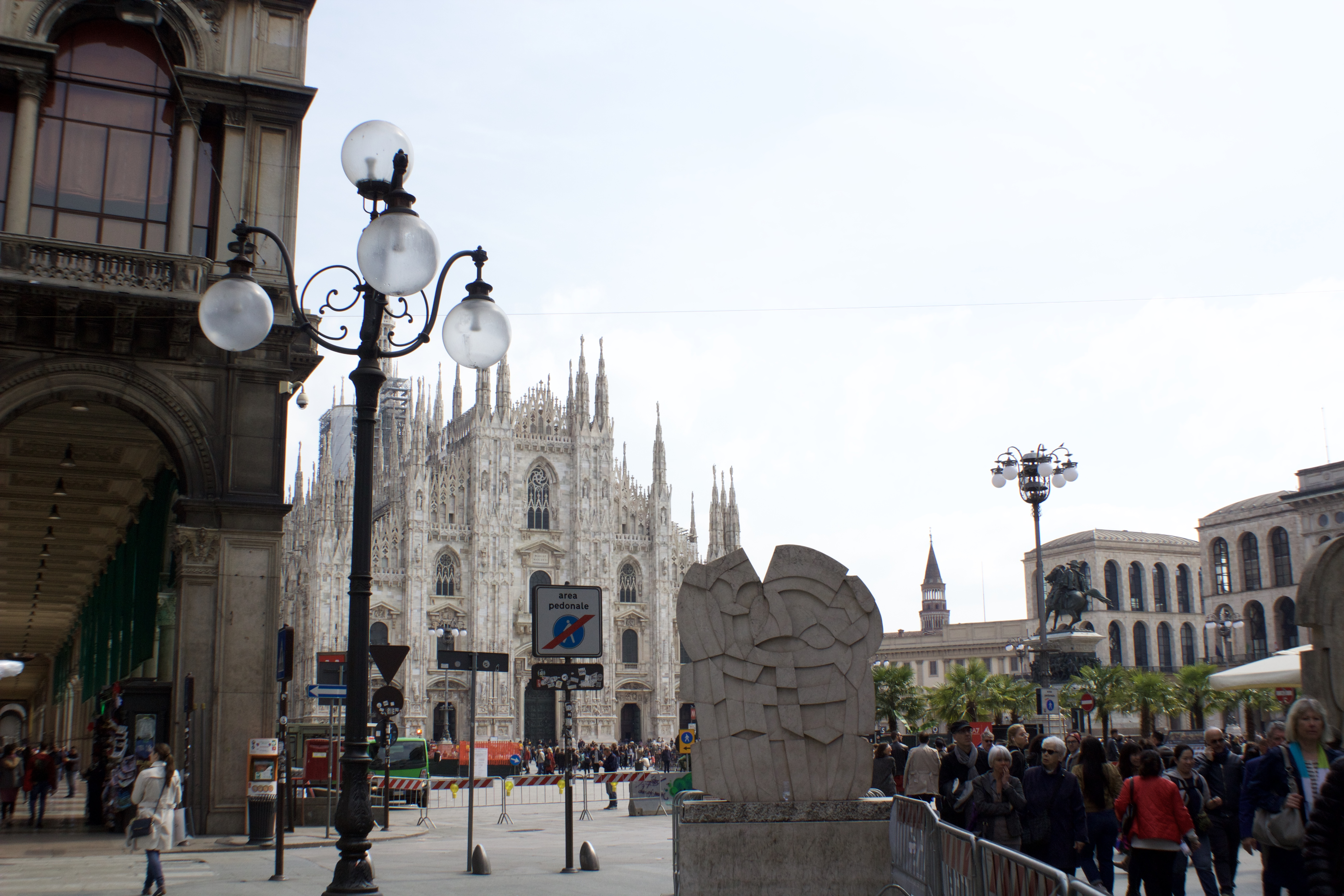 A beautiful view of the Piazza del Duomo